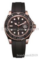Top brand SUP Rubber Strap Rose gold Luxury mens Watch YACHT...