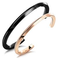 커플 팔찌 티타늄 스테인레스 스틸 연인 보석 블랙 골드 컬러 주년 기념 발렌타인 데이 선물 여자 남자 팔찌 팔찌 쥬얼리