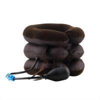 Compresor de aire inflable Cuello de tracción cervical Terapia de masaje Almohada Alivio para el dolor Viaje Cubierta del coche Cojín