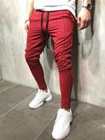الرباط الملابس الداخلية للرجال السببية مخطط تشغيل قلم رصاص سروال ذكر موضة الملابس رجالي رياضية للياقة البدنية نحيل الرجال