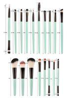 Новый 20 шт бренд кисти для макияжа профессиональная косметическая щетка набор с природой контур порошок косметика кисть макияж