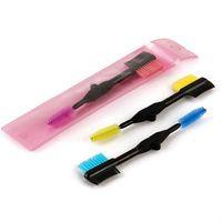 Maquillage Têtes doubles brosses pliant Cils Cils Mascara applicateur Extension brosse peigne à sourcils portable KKA7788-1