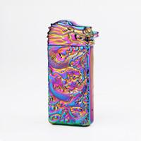 Bunter Zinklegierungs-USB-Bullion-Drachekopf-Aufladungsfeuerzeug Innovativer Entwurfs-zyklische Aufladung schütteln Zündung für das Zigarettenkraut, das DHL raucht