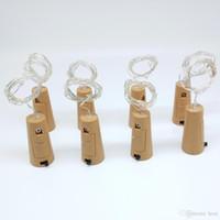 Corda de luz de garrafa 20-LEDs 2 metros Fio de lasca com rolha de garrafa para decoração de casamento de artesanato de vidro e luz de festa