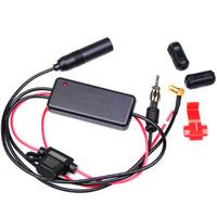Auto del coche de radio FM / AM / DAB antena del receptor de DAB señal de la antena amplificador de refuerzo para Marine Vehículo Barco 660mm FM / AM Amplificador
