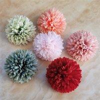 headware Decor Garland partido da flor Day Recados Evento de 200pcs 6cm 11colors Artificial Silk Bolocephalus saussureoides cabeças de flor DIY Mãe