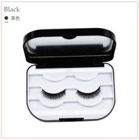3 pairs Eyelash Case Plastic rose gold Eyelash Box with mirr...