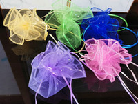 Free Ship 100pcs 35cm Diameter Organza Round Plain Jewelry B...