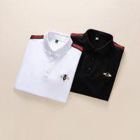 Italien Marke Designer Poloshirt Luxus T Shirts Schlange Biene Floral Stickerei Mens Polos High Street Mode Streifen Drucken Polo T-Shirt