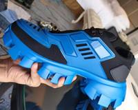 Hiçbir Kutu Leopar Baskı Erkek Kadın Koşucu Nedensel Platform Ayakkabı Dantel-up Severler Cloudbust Thunder Eski Baba Sneakers Hombre 35-46
