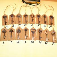 Abridor de Garrafa Chave do vintage Antigo Chave Abridor De Cerveja De Metal Bronze Skeleton Keychain Abridores de Garrafa Favor de Casamento presente criativo 19 Estilo