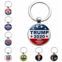 Donald Trump 2020 Keychain Keep America Great Gemstone sonn Key Pendentif Souvenir Porte-clés en acier inoxydable cadeau HHA1106