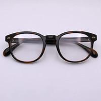 Luxo Mulheres Designer Quadro Glassesframe banhado Praça Retro 5036 óculos para homens simples Popular Estilo de alta qualidade com Box