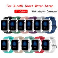 Für Xiaomi Uhrenarmband-weiche Silikon-TPU-Bänder für Mi Samrtwatch Ersatz-Uhrenarmband-Armband mit Adapter-Verbindungs