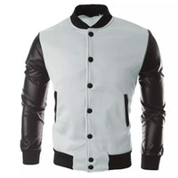 Men running jacket Coat Sport fitness PU Leather Long sleeve...