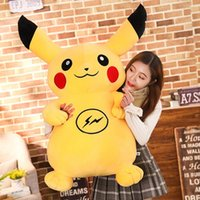 30 cm Peluche Creativo Cartoon Pikachu Doll Camera da letto Decorazione Cuscino di peluche Pikachu nero e giallo