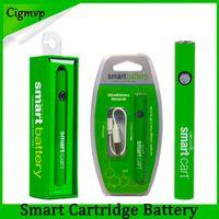 Yeni Akıllı Sepet Batarya Vape 510 İplik Kartuşları 380mAh Değişken Gerilim Ön ısıtma SmartCart Piller USB Şarj Cihazı ile Evod Hukuku