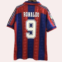 Retro classique 1996 1997 Maillots de football GUARDIOLA RONALDO STOITCHKOV 96 97 Maillot de football rétro