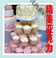 4 계층 유기 유리 고급 아크릴 스탠드 웨딩 케이크 타워 생일 케이크 제품 아크릴 컵 케이크 스탠드 장식