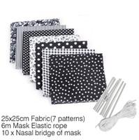 أقنعة DIY محلية الصنع الغبار قناع المطبوعات قناع قماش لخياطة مع حبل الأذن مطاطا الفرقة حبل DIY قناع مجموعة GGA3382-3