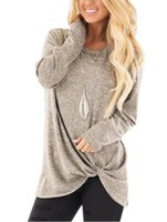 2020 Hot Autumn Loose New Womens Ladies O- Neck long sleeve s...
