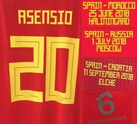 2018 Match Worn Player Issue A. iniesta Isco Asensio With Mat...