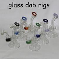 Dicke Bong-DAB-Rig-Matrix Perc-Wasserhaare Wasserrohrbongs Glasrohre Öl-Rigs-Bubbler-Ash Catcher Wachs-Quarz-Banger-Schüssel