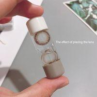 Küçük Sevimli Taşınabilir Kontakt Lens Seyahat Çift Kafa Kontakt Lens Bagaj Kutusu Konteyner Göz Bakımı Araçlar Saklama Kutusu Ücretsiz Kargo Y1601 Rack