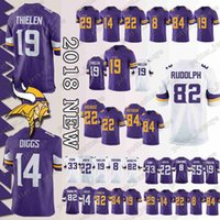 e802ac8be Minnesota men vikings Jerseys 99 DANIELLE HUNTER 19 Adam Thielen 14 Stefon  Diggs 8 Sam Bradford 22 Harrison Smith 82 Kyle Rudolph Jersey Top