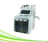 6 in 1 ultrasuoni pelle serraggio rf vuoto di rimozione di comedone macchina ossigeno acqua buccia getto