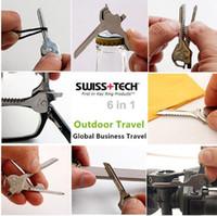 Neuer Swiss + Tech 6 in 1 UtILI-Key Mini-Multifunktions-Schlüsselring Flach- und Verschlussglas-Schraubendreher Flaschenöffner