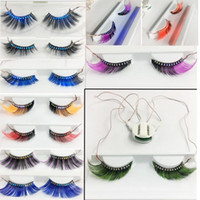Colorful LED Eyelashes Glowing False Eyelashes for Christmas...