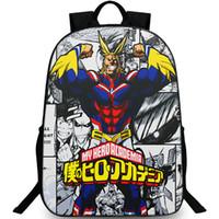 كل ما قد ظهر على ظهره My Hero Academia day pack سحق حقيبة مدرسية قوية الكرتون packsack Picture rucksack Sport schoolbag daypack day