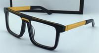 Blocco per grafici quadrato vintage classico uomo design occhiali ottici 0078 Vendita Popolare semplice stile retrò stile Top Quality Transparent Lens Eyewear