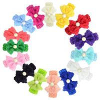 baby bow pearl headbands girls crystal bowknot hairbands kni...