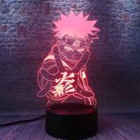 3D-Illusion LEDNightlight Bunte Noten-Blitz-Licht-Schreibtisch Dekor Japan Manga Modell Naruto Anime-Abbildung Aufleuchtenspielwaren Y200421