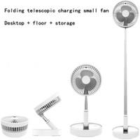 Folding ar sincronismo remoto portátil ventilador de refrigeração com agitação Usb cabeça P10 carregamento Fan telescópica Folding ventiladores silenciosos Fan Air Cooler Verão