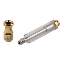 cartucce di ottone tirapugni atomizzatore oro serbatoio di vaporizzazione cartucce di olio denso vaporizzatore di cera d'olio Co2 th205 G2 92A3