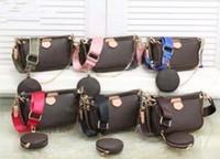 Verkauf 3-teiliger Satz sackt Frauen Umhängetasche echtes Leder Handtaschen Portemonnaie Dame Tragetaschen Geldbörse drei Artikel # 8