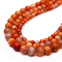 Pedra natural salmão dragão dragão veia ágata pearl6 8 10mm contas artesanais de produção DIY pulseira de jóias contas soltas acessórios