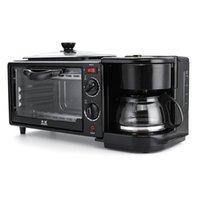 3 in 1 Elektro Frühstück Maschine Multifunktions-Kaffeemaschine Wanne Miniofen Haushalt Brot Pizzaofen Pfanne brät