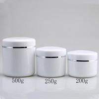 200g 250g 500g barattolo di crema, plastica di sub-imbottigliamento di trucco, contenitore cosmetico vuoto, scatola metallica per campioni, lattine di lozione F1759