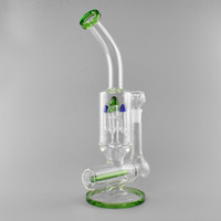 "Water Pipes 5 ArmT Perc Recycler Bubbler Oil Rigs 15"" T..."