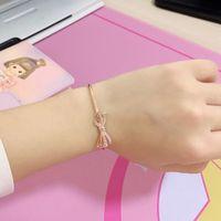 Pulseira atacado- de Pandora 925 prata banhado a ouro Rose Set CZ diamante com caixa original Jóias Ladies Bracelet