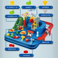 어린이 교육 구조 차량 주차장 시뮬레이션 선물 수동 차량 모험 트랙 장난감