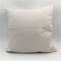 التسامي جيب كيس المخدة 40 * 40 كتان Pillowcover الجيب وسادة وسادة الحرارة الطباعة فارغة ويغطي وسادة بالجملة A02