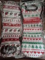 네오프렌 크리스마스 와인 자루 크리스마스 트리, 눈송이, 양말 패턴 와인 병 가방