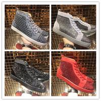 5056b48bf9c3 Neue Designer-Marke Studded Spikes Flats Schuhe Rote Untere Schuhe für  Männer Frauen Party Liebhaber