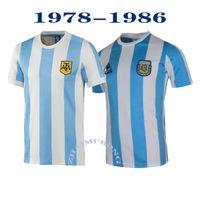 1986 1978 Argentinien Retro Fussball Jersey Maradona 86 Vintage Klassische Retro Argentinien Maradona 78 Fußballshirts MAILLT CAMISETAS DE FÜNDBOL