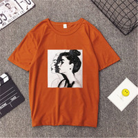 Female New Fashion T shirt Woman Spring Summer Girls Print S...